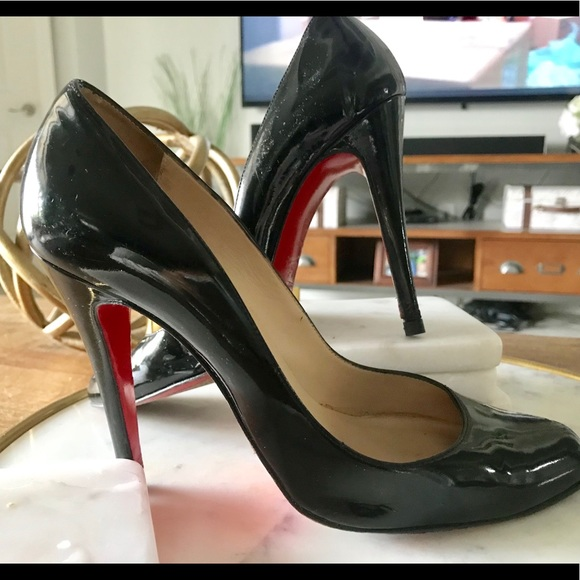 competitive price 8d89c 5e49d Christian Louboutin Fifille Black Patent Leather